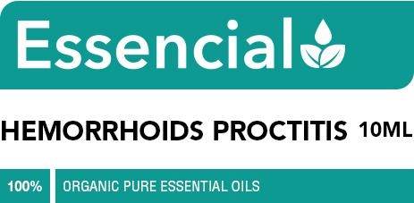 Hemorrhoids proctitis essential oil